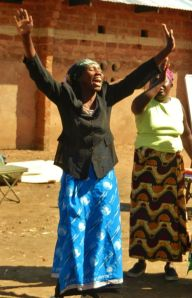 Hupa praising the Lord for healing.