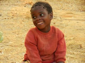 Little girl attending our Community Dinner.